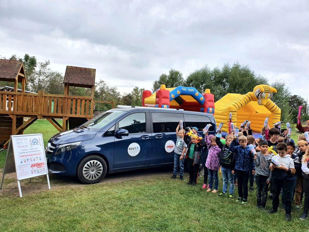 Das Beratungsmobil des BSVT beim Inklusionskinderfest in Apolda